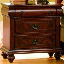 Isabella 3 Drawer Nightstand