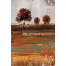 Driving Along The Countryside 2 Piece Painting Print Set