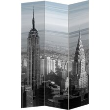 "72"" x 56"" Folding 3 Panel Room Divider"