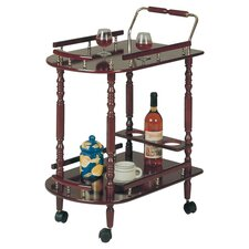 Fountain Hills Serving Cart in Cherry