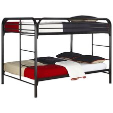 Sacramento Full over Full Bunk Bed with Built-In Ladder