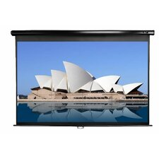 "<strong>Elite Screens</strong> Manual Home Cinema Pull Down Projector Screen - 16:10 Format 86"" Diagonal"