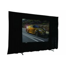 "QuickStand Folding Screen with Drape Kit - 16:9 Format 150"" Diagonal"