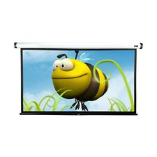 "MaxWhite-Fiberglass Home2 Series Electric / Motorized Screen - 90"" Diagonal in White Case"