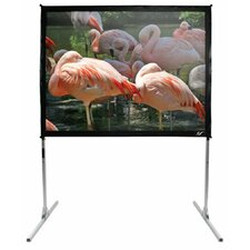"QuickStand Portable Fixed Frame CineWhite  Projection Screen - 150"" 16:9 AR"
