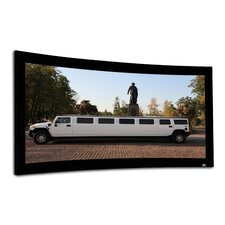 "Lunette Series Matt White 166"" diagonal Fixed Frame Projection Screen"
