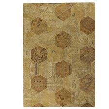 Honey Comb Siena Light Beige Geometric Area Rug