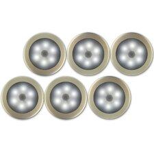 Battery Powered Wireless Motion Sensing LED Light (Set of 6)