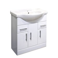 Porto 75cm Basin Unit in White