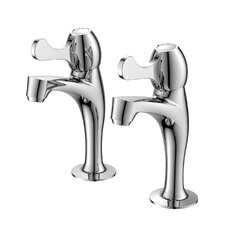 High Neck Lever Kitchen Taps and Mixer in Chrome