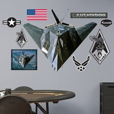 Military F-117 Nighthawk Wall Decal