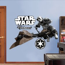 Star Wars Storm Trooper Speeder Bike Wall Decal