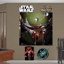 Star Wars Boba Illustration Wall Mural