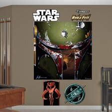 Star Wars Boba Illustration Wall Mural