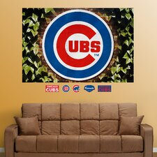 MLB Chicago Cubs Ivy Logo Wall Mural
