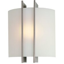 Checks Linear 1 Light Wall Sconce in Polished Steel