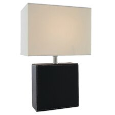 "Leandra 17"" H Table Lamp with Rectangle Shade"