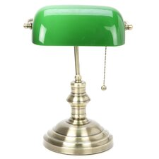 """Classic Banker 14.5"""" H Table Lamp with Rectangular Shade"""