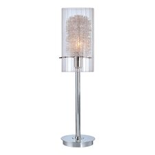 "Torchiere 21"" H Table Lamp with Cylinder Shade"
