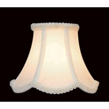 Woven Fabric Chandelier Shade in Cream with Scallop Trim