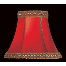 <strong>Lite Source</strong> Faux Leather Chandelier Shade in Red with  Trim
