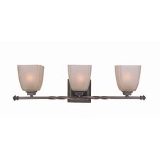 3 Light Champagne Vanity Light