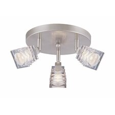 <strong>Lite Source</strong> Avis 3 Light Flush Mount