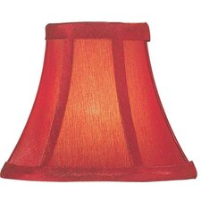 Candelabra Lamp Shade in Red Silk