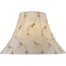 <strong>Lite Source</strong> Jacquard Bell Floral Lamp Shade in Cream