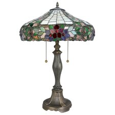 Everley 3 Light Table Lamp with Bowl Shade