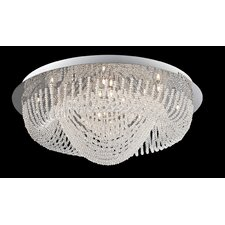 <strong>Lite Source</strong> Orella 24 Light Flush Mount
