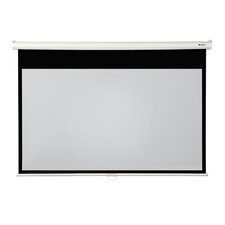 "High Contrast 92"" diagonal Manual Projector Screen with Slow Retraction"