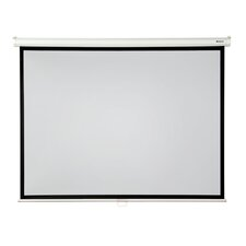 "High Contrast 120"" diagonal Manual Projector Screen with Slow Retraction"