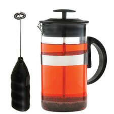 Café Au Lait 33.81 oz. French Press and Milk Frother Coffee Set