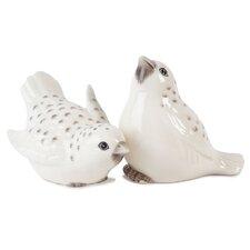 Hydrangea Bird Salt and Pepper Shakers