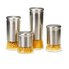 Flairs 4-Piece Storage Canister Set