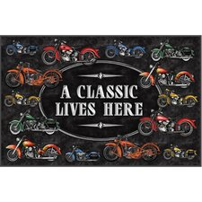 A Classic Motorcycle Door Mat