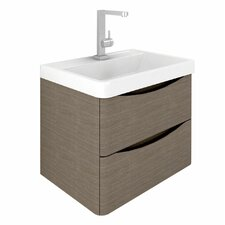 Envy 60cm Wall Mounted Vanity Unit with Basin in Grey Elm