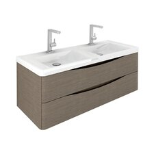 Envy 120cm Wall Mounted Vanity Unit with Basin in Grey Elm