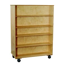 """Classroom Select 67"""" Adjustable Shelf Mobile Double-Sided Bookcase"""