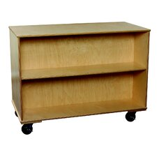 """Classroom Select 48"""" Adjustable Shelf Mobile Double-Sided Bookcase"""