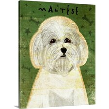 Pet Art Maltese by John W. Golden Painting Print on Gallery Wrapped Canvas