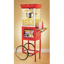 150 cm Old Fashioned Movie Time Popcorn Cart with Concession Stand