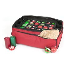 Santa's Bags 3 Tray Ornament Keeper with Side and Front Pockets