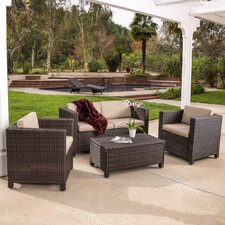 Puerta 4 Piece Deep Seating Group with Cushions