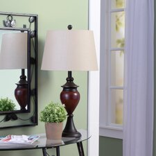 """28.5"""" Table Lamp with Drum Shade (Set of 2)"""