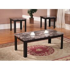 Marble Top 3-Piece Coffee Table Set