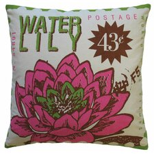 Postage Cotton Waterlily Print Pillow