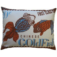 <strong>Koko Company</strong> Postage Cotton Goldfish Print Pillow