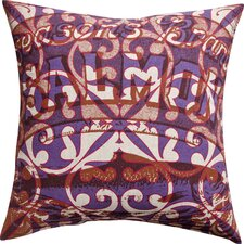 <strong>Koko Company</strong> Press Cotton Print Salmon and Tile Pillow